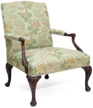 A George III Mahogany Library Armchair